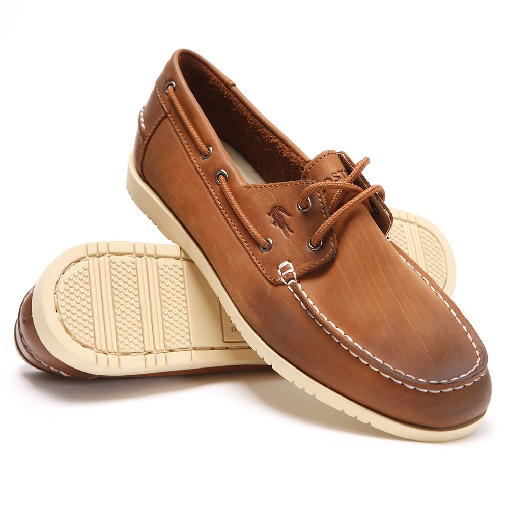 separation shoes 3f556 338a0 Lacoste Corbon Dark Tan Boat Shoe main image