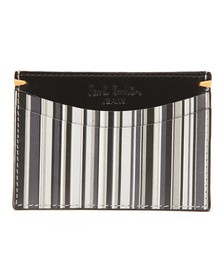 Paul Smith Mens Black Grey Stripe Card Holder