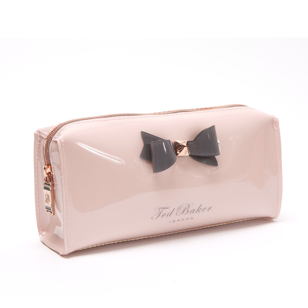 52f30310dd Ted Baker Womens Pink Ted Baker Katient Small Bow Make Up Bag main image.  Loading zoom
