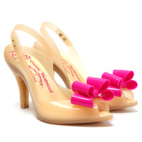 vivienne westwood anglomania x melissa lady dragon bow shoe